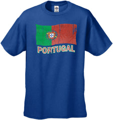 Vintage Portugal Waving Flag Men's T-Shirt