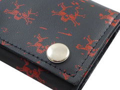 Vintage Skull & Crossbones Genuine Leather Chain Wallet