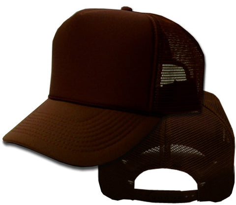 Vintage Trucker Hats - Solid Brown Trucker Cap