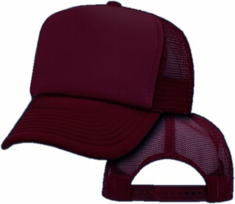 Vintage Trucker Hats - Solid Burgundy Trucker Cap