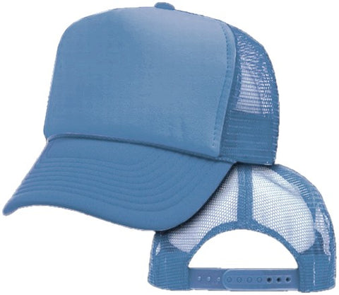 Vintage Trucker Hats - Solid Light Blue Trucker Cap