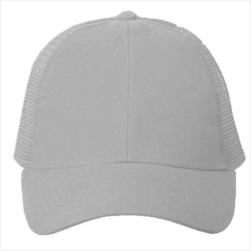 Vintage Trucker Hats - Solid Light Grey Trucker Cap – Bewild 0fb3be69c660