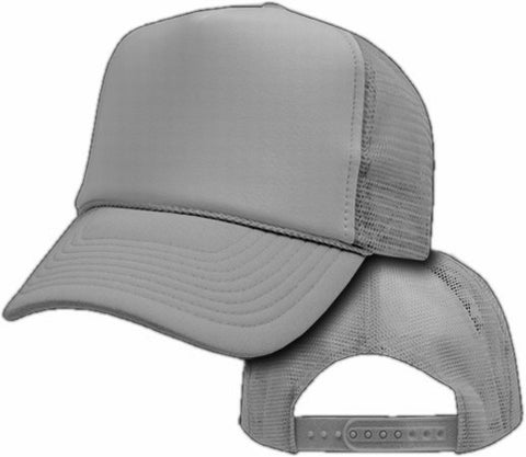Vintage Trucker Hats - Solid Light Grey Trucker Cap