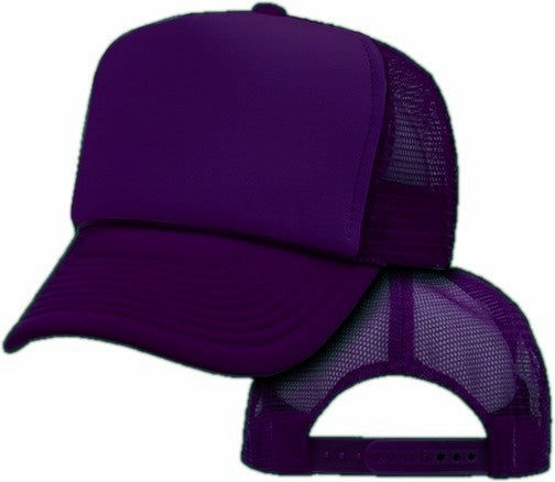 Vintage Trucker Hats - Solid Purple Trucker Cap