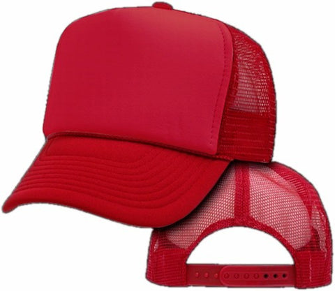 Vintage Trucker Hats - Solid Red Trucker Cap