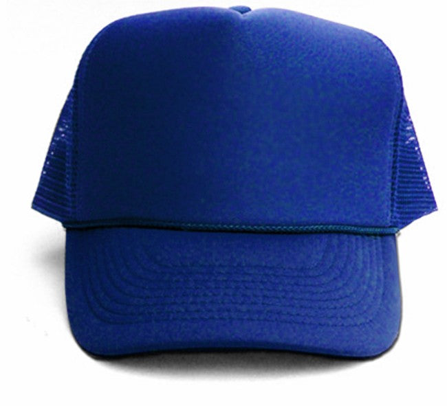Vintage Trucker Hats - Solid Royal BlueTrucker Cap