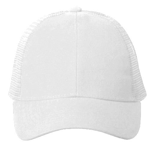 Vintage Trucker Hats - Solid White Trucker Cap