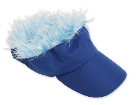 Wacky Blue Visor With Light Blue Hair