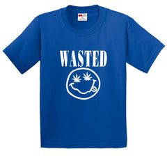 Wasted Pot Leaf Smiley Face Men's T-Shirt