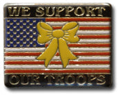 We Support Our Troops Flag Lapel Pin