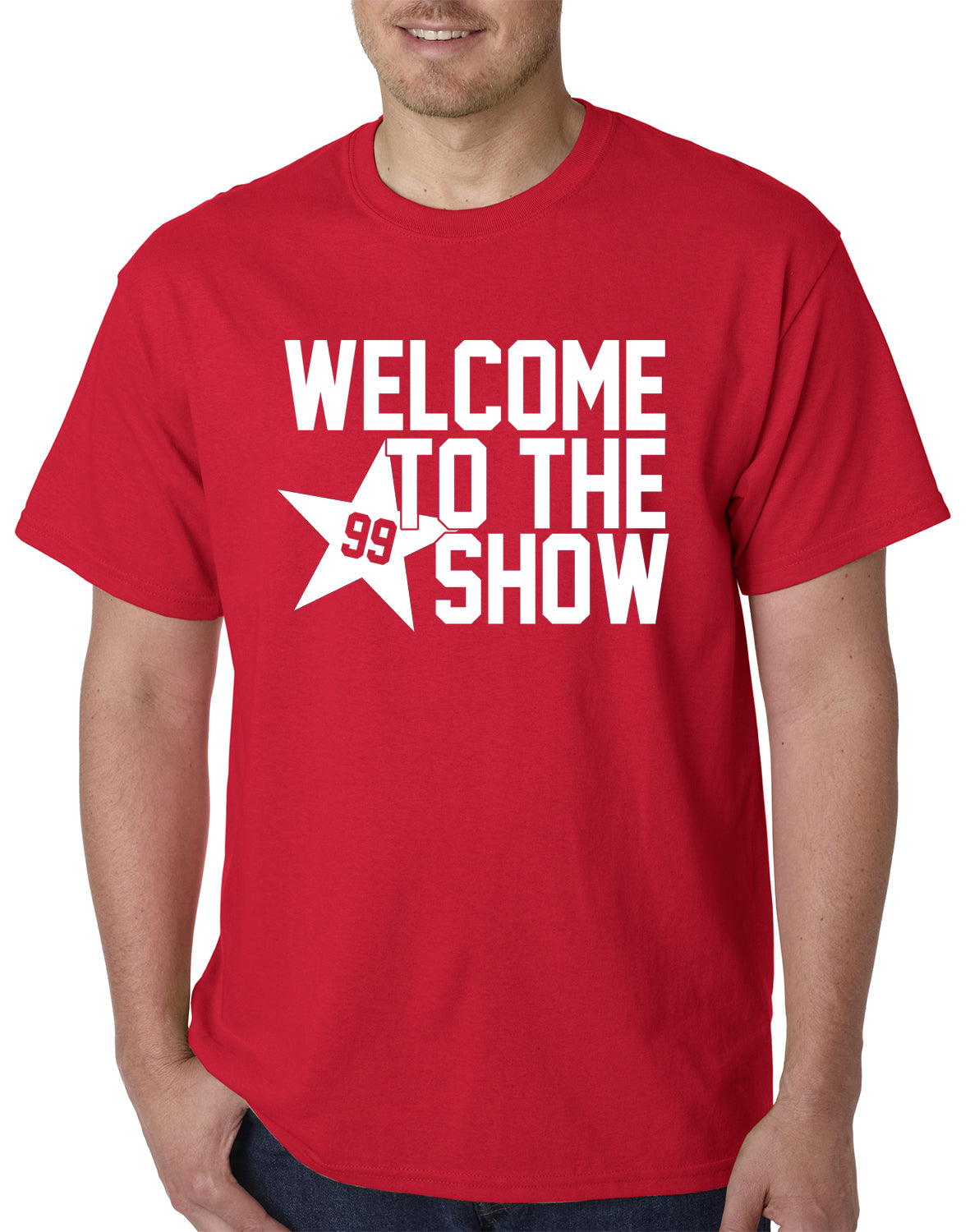 Welcome To The Show Watt Houston Mens T-shirt