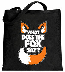 What Does The Fox Say? Canvas Tote Bag