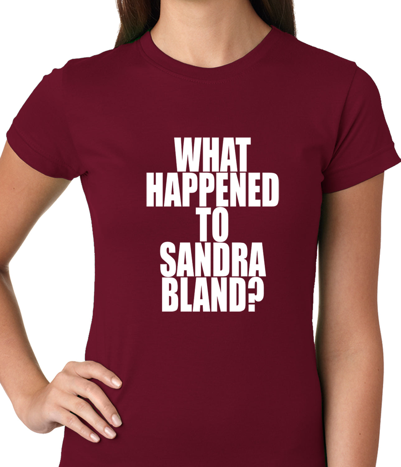 What Happened To Sandra Bland? Ladies T-shirt
