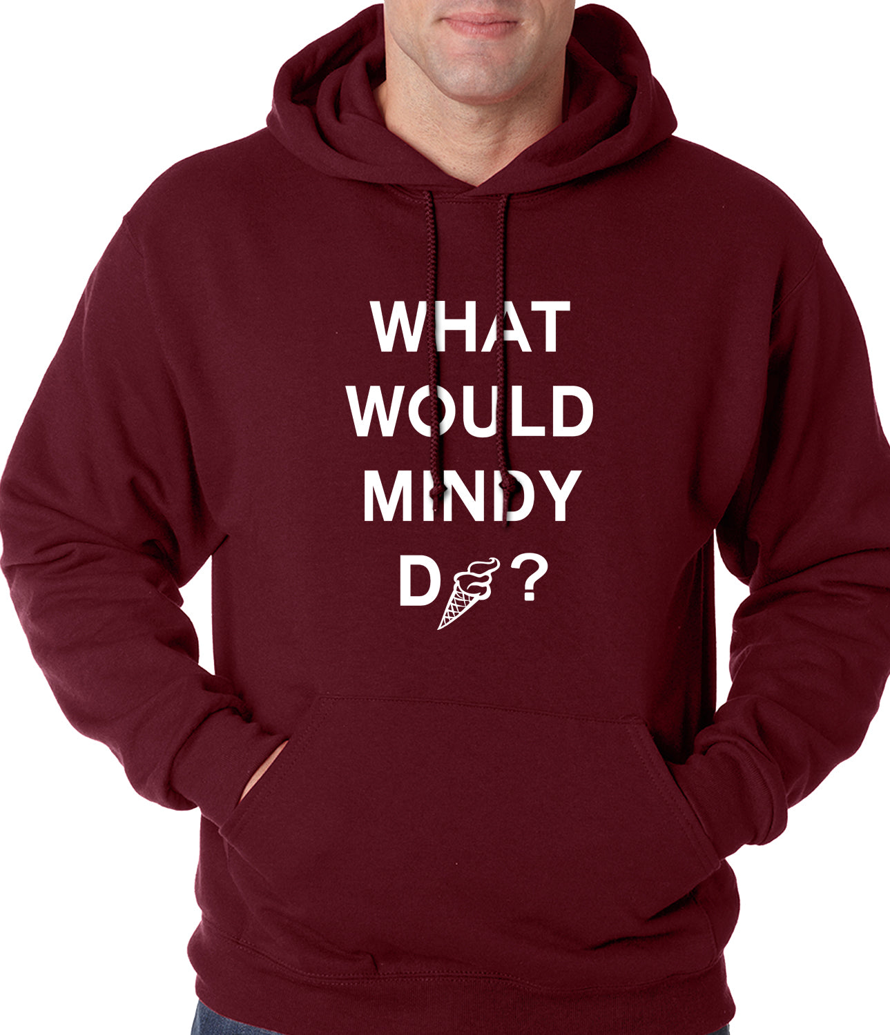 What Would Mindy Do? Eat Ice Cream Adult Hoodie
