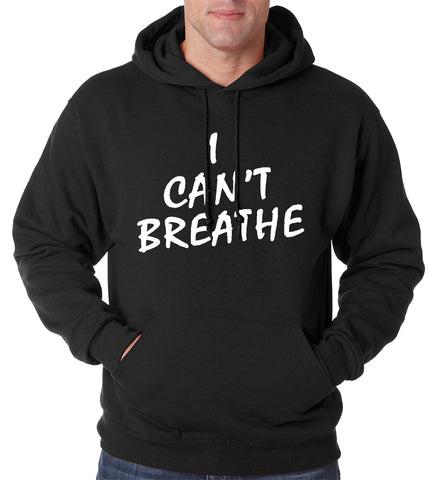 White Print I Can't Breathe Adult Hoodie