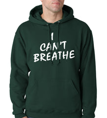 White Print Eric Garner I Can't Breathe Adult Hoodie