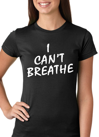 White Print I Can't Breathe Girls T-shirt