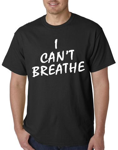 White Print I Can't Breathe Mens T-shirt