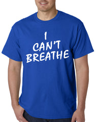 White Print Eric Garner I Can't Breathe Mens T-shirt