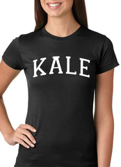 White Print Kale Girls T-shirt