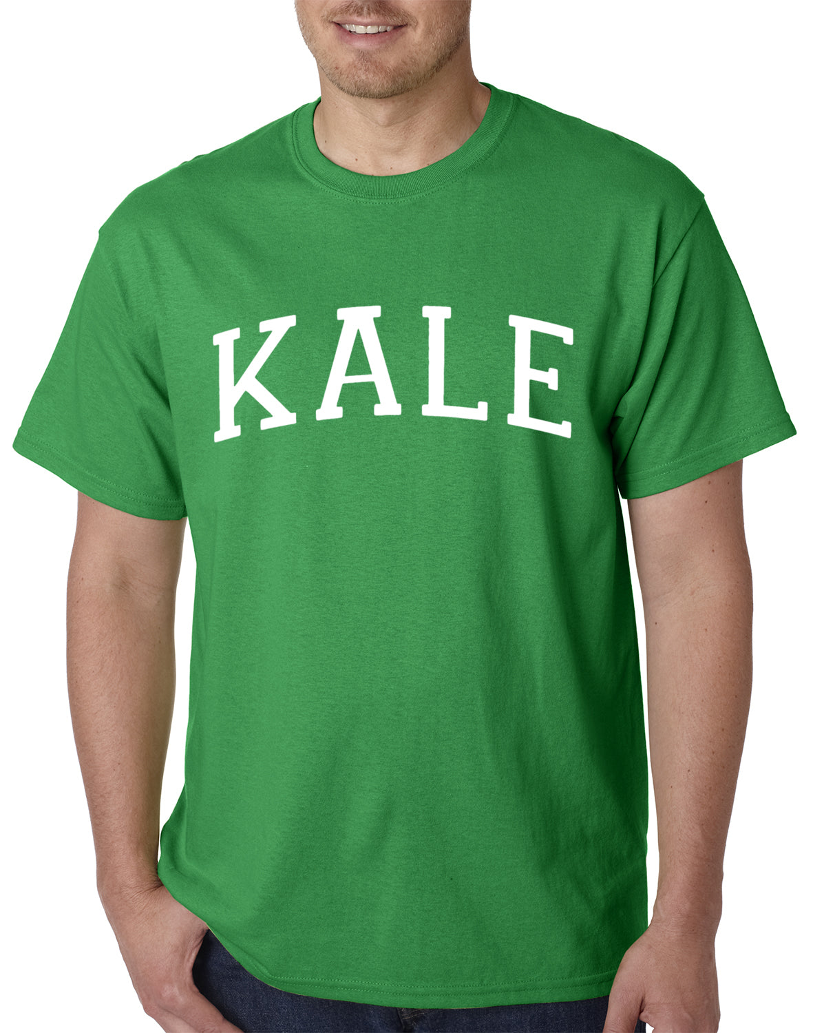 White Print Kale Mens T-shirt