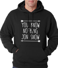 (White Print) You Know Nothing Jon Snow Adult Hoodie