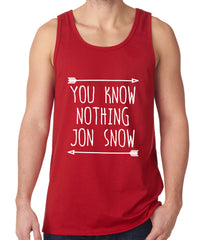 (White Print) You Know Nothing Jon Snow Tank Top