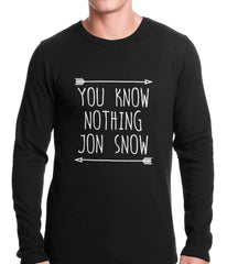 (White Print) You Know Nothing Jon Snow Thermal Shirt