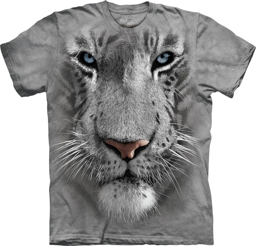 White Tiger Big Face Men's T-Shirt