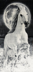 "Wild Horse In The Night Beach and Bath Towel (30"" x 60"")"