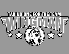 Wingman Taking One for The Team Mens T-Shirt