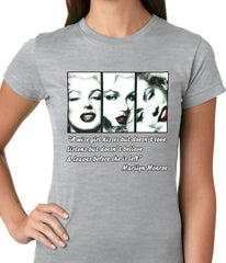 Wise Girl Marilyn Quote Ladies T-shirt