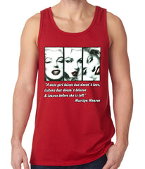 Wise Girl Marilyn Quote Tank Top