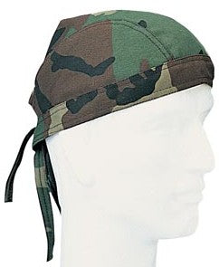 Woodland Camo Head Wrap Du Rag