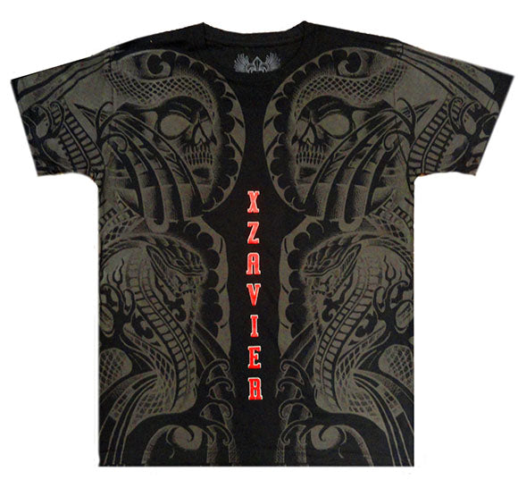 Xzavier Body Tattoo Men's T-Shirt (Black)