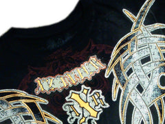 Xzavier Guilded Tribal Couture Rhinestone T-Shirt