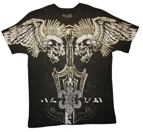 Xzavier Screaming Skulls Mens T-shirt