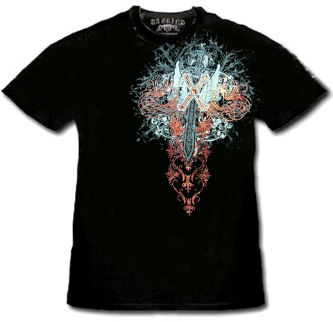 "Xzavier SFX ""Midnight Flight Couture"" Rhinestone T-Shirt"