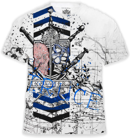 "Xzavier SFX ""Truce Couture"" The Never Ending Battle Rhinestone T-Shirt"