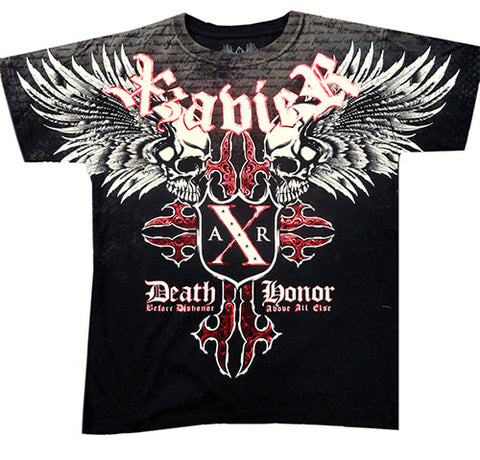 Xzavier Super Duper Cross Skulls Men's T- Shirt (Black)