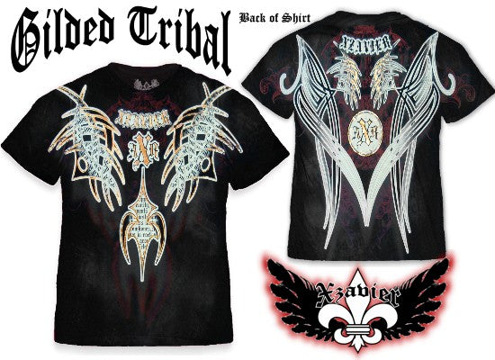 "Xzavier ""Gilded Tribal"" T-Shirt (Black)"
