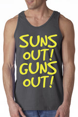 Yellow Print Sun's Out Guns Out Tank Top