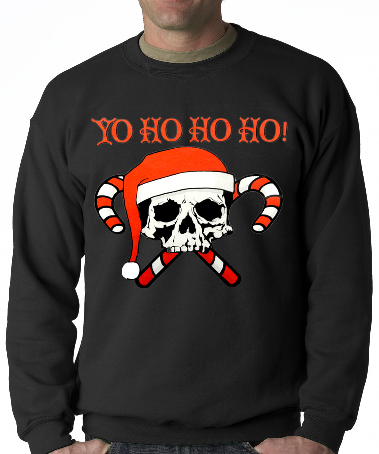 Yo Ho Ho Ho Pirate Christmas Adult Crewneck