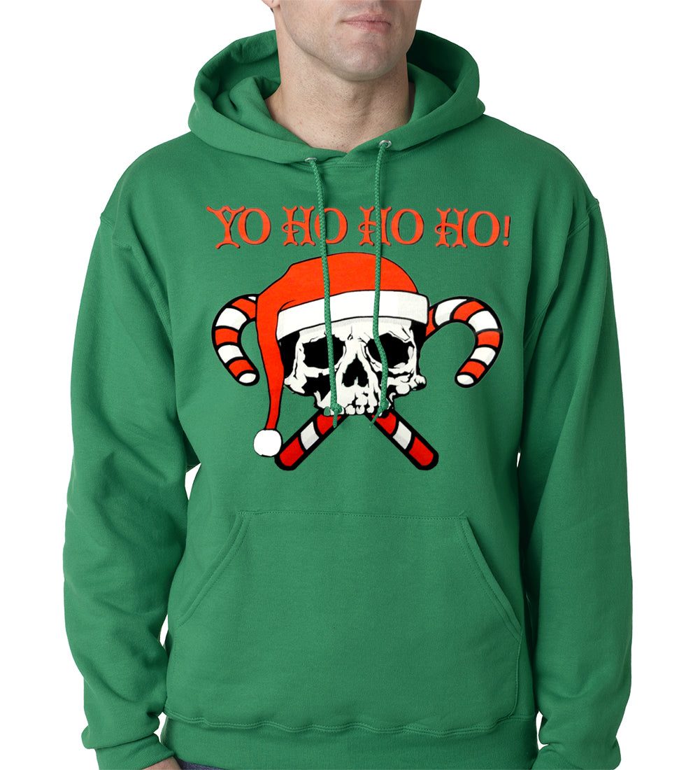 Yo Ho Ho Ho Pirate Christmas Adult Hoodie