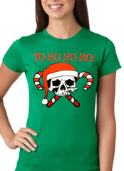 Yo Ho Ho Ho Pirate Christmas Girls T-shirt