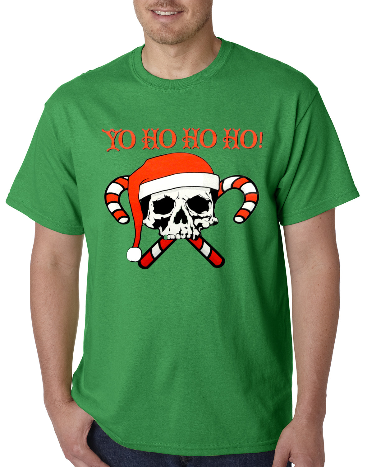 Yo Ho Ho Ho Pirate Christmas Mens T-shirt