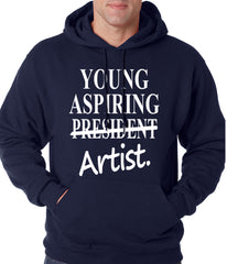 Young Aspiring Artist (President Crossed Out) Adult Hoodie