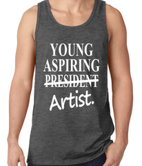Young Aspiring Artist (President Crossed Out) Tank Top