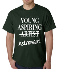 Young Aspiring Astronaut (Artist Crossed Out) Mens T-shirt