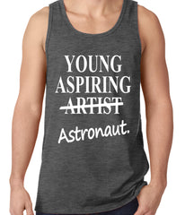 Young Aspiring Astronaut (Artist Crossed Out) Tank Top